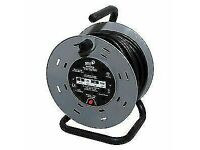 HD ELECTRIC 25MT POWER CABLE & REEL WITH 4 SOCKETS