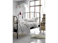Beautiful Ikea Lillesand Double bed frame + memory foam mattress topper