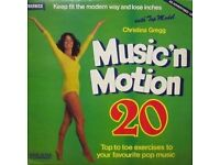 1978 VINYL RECORD - MUSIC IN MOTION w top model Christina Gregg VERY GOOD COND.