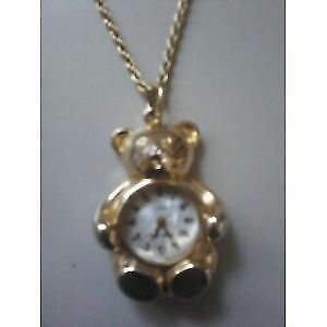 Vintage Phillip Wells - Bear necklace watch