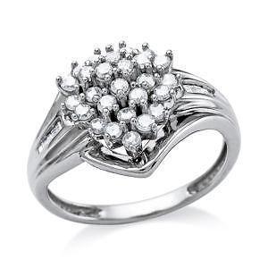 White Gold Diamond Cer Ring
