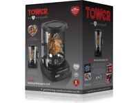 TOWER T14005 ROTATING VERTICAL ROTISSERIE GRILL....new