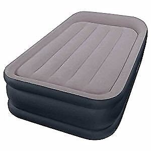Intex Deluxe Pillow Rest Raised Air Bed Single Size inc Pump (used twice)