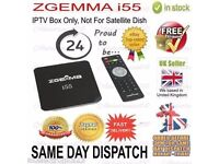 POPULAR - ZGEMMA I55 DEDICATED - DUAL CORE - IPTV RECEIVER-WITH ADD ONS-£70-COLLECTION-OPENBOX ONLY*