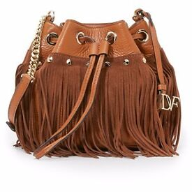 Designer DVF Diane Von Furstenberg Boho Disco Bag Tan - all wrapped, with tags, brand new