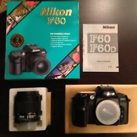 Nikon F60 35mm SLR Film Camera and zoom 35-80 Lens