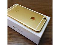 APPLE IPHONE 7 128GB GOLD MOBILE PHONE BOXED ****O2/TESCO/GIFFGAFF** LIKE NEW