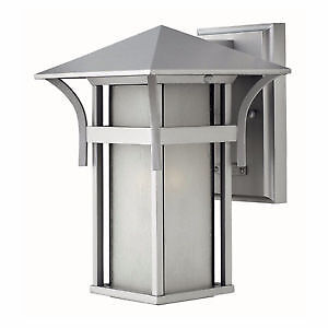 Hinkley Lighting-Titanium-Harbor Outdoor Wall Light