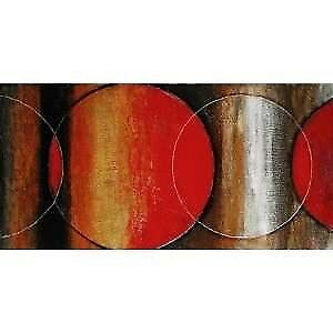 """Fire Circles Painting by Renwil, BEAUTIFUL LG PAINTING 60""""x30"""""""