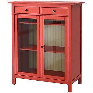 Ikea Hemnes Linen Cabinet Red