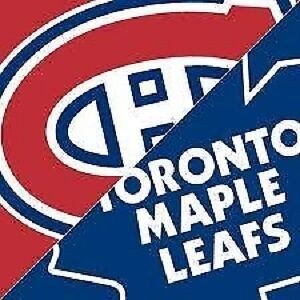 HABS-CANADIENS VS TORONTO MAPLE LEAFS ! CHEAP 4-PACKS AND REDS!