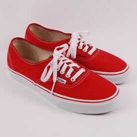 Genuine Vans red