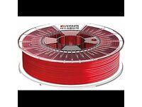 3D Printer Filament FDA FORMFUTURA 2.85mm HDglass see through red 750g