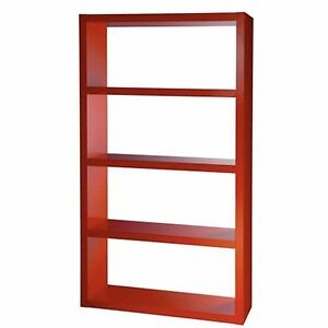 Red Ikea Lack Bookcase Chic Shelving Unit In Good Shape