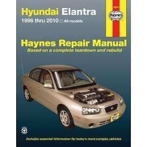 Haynes for Hyundai Elantra 1996 to 2010 Edmonton Edmonton Area image 1