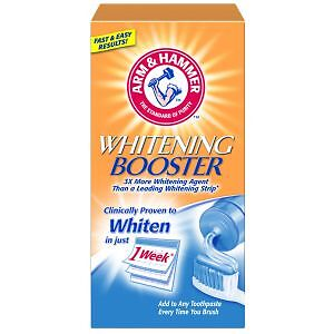Arm & Hammer Whitening Booster x 3 Toothpaste ... Works In Just 1 Week !!