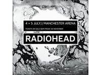 3 x Radiohead Tickets Manchester Arena July 4