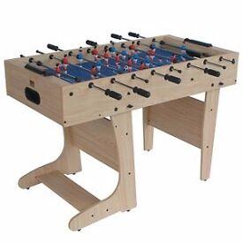 Folding wooden 4ft Football table