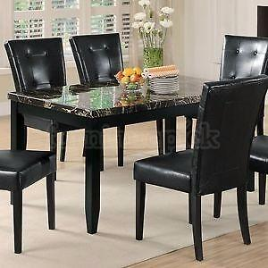 Madness SALE! IS ON Brand New Faux Marble  Dining Tbl w/4 chairs $299
