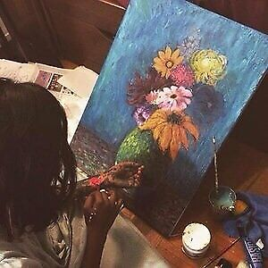 Art lesson for kids and teens