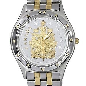 ROYAL CANADIAN MINT MEN'S COAT OF ARMS WATCH 50 cent 2000