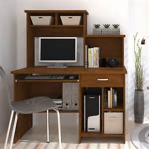 solid wood computer workstation with bookcases $50
