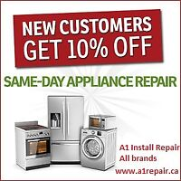 Affordable Fridge stove washer dryer dishwasher install repair