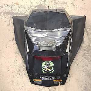 2009 Arctic Cat Z1 Turbo STORAGE BOX, AND TAILLIGHT ASSEMBLY