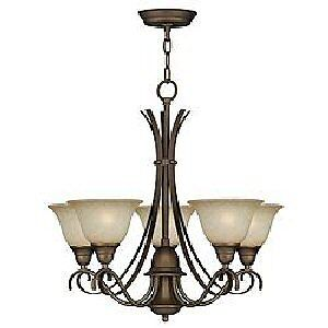 "NEW 5-LIGHT VIENNA COPPER CHANDELIER BRONZE FINISH ""FOR LIVING"""