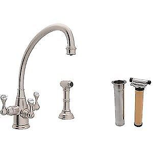 ROHL KITCHEN FAUCET + FRANKE TRIFLOW FILTRATION SYSTEM