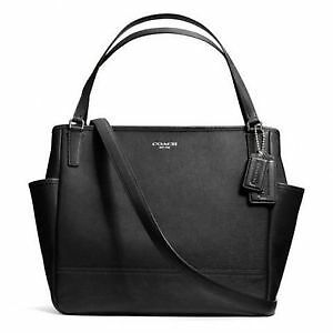 Coach baby bag in saffiano leather- black