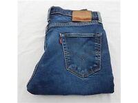 Mens Levi 511 Slim-Fit Straight Leg Stretch Jeans Waist 34