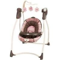 Graco pink baby swing with tray!