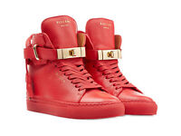 Buscemi Red and Gold 100 mm Sneakers size 8