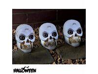 Halloween 3 LED Skull Pathway Markers