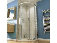 *NEW* WICKES QUADRANT SEMI FRAMELESS ENCLOSURE CHROME 900MM