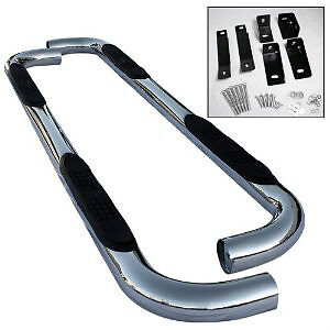 "Dodge Quad Cab Stainless Steel Step Bars 3"" Round 09-15"