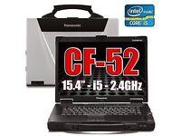 Panasonic Cf-52 Toughbook Laptop 6Gb 250 GB Windows 10 32/64 Bit Rugged.