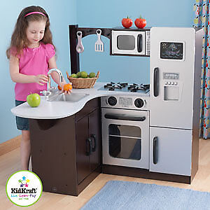 Kidkraft espresso deluxe kitchen with tons of accessories!!