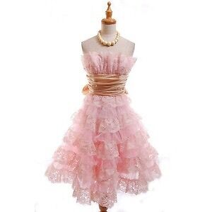 Betsey Johnson Tea Party Evening Lace Dress Pink