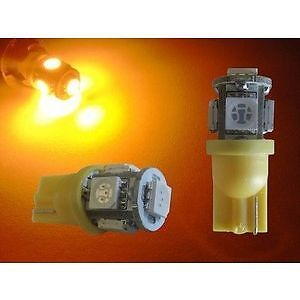 T10 W5W ORANGE Amber LED Turn Parkers Side Wedge Bulb Indicator Parkers