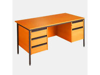 Opus Rectangular Desk - H Leg Style With Drawers - Double Pedestal - Collection Only