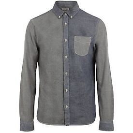 All Saints Medford Tri-Colour Denim Shirt, Large RRP £135