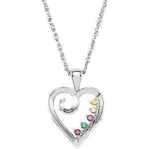 Birthstone necklace ebay mothers birthstone necklaces aloadofball Gallery