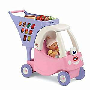 BRAND NEW  IN BOX Little Tikes Cozy Shopping Cart Pink/Purple