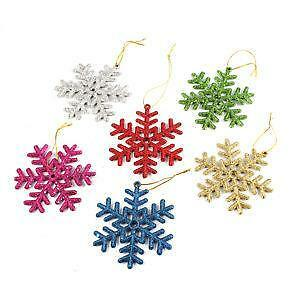 snowflake christmas decorations ebay - Snowflake Christmas Decorations