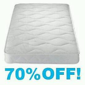 BRAND NEW SOFT SINGLE MATTRESS (POCKET SPRUNG, COTTON FABRIC AND FLAME PROOF)