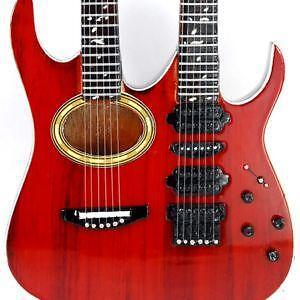 double neck acoustic guitar ebay. Black Bedroom Furniture Sets. Home Design Ideas