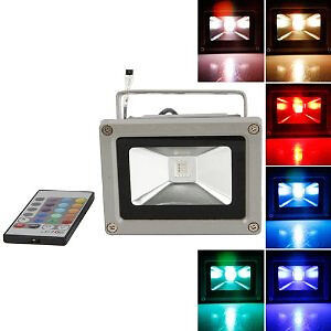10W RGB colour changing LED WATERPROOF Remote Control FLOODLIGHT @R230 each
