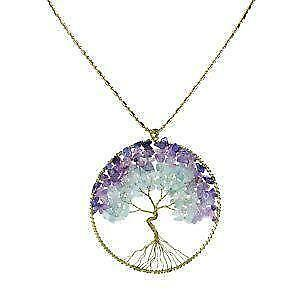 Tree necklace ebay for What is the meaning of the tree of life jewelry